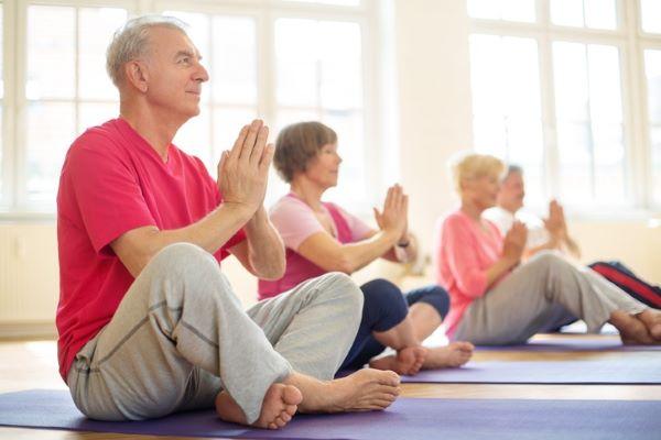 Seniors Celebrating International Yoga Day at The Ivy